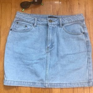 F21 light wash denim skirt EUC